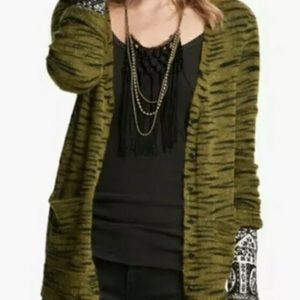 Free People Beach Green Mohair Cardigan